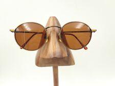 Vintage Zimco Antique Brown Van Couver Metal Round Sunglasses Frames Korea