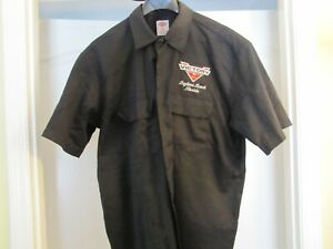 VICTORY MOTORCYCLE MENS WORK SHOP STAFF BUTTON DOWN SHIRT CUSTOM MADE