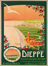 Dieppe France French European Vintage Travel Advertisement Art Print Poster