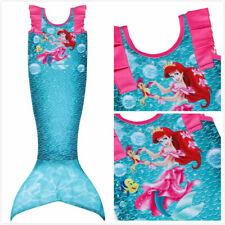 Girls Kids Mermaid Tail Swimwear Bikini Bathing Swimming Costume Dress 2Pcs Set