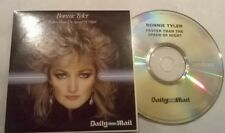 BONNIE TYLER  * FASTER THAN THE SPEED  *   RARE 9 TRK IRISH PROMO CD CARD CASE