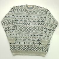 RETRO Mens Vintage Abstract Crazy Pullover 44 (2XL)  Wool Acrylic Sweater Jumper