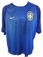 Nike CBF Jersey Football Soccer Shirt Men's XXL Brasil DRI-FIT AWAY