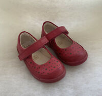 Girls Clarks First Shoes Softly Ida Berry Leather Size 4F