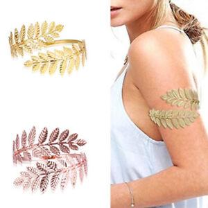 Metal Greek Roman Laurel Leaf Bracelet Armband Upper Arm Cuff Arml TC