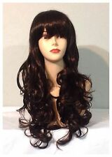 Stylish Long Curly Wigs, Party, Cosplay, Fancy Dress, Copper Brown