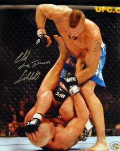 UFC MMA CHUCK LIDDELL 16X20 HAND SIGNED AUTOGRAPHED PHOTO WITH COA VERY RARE