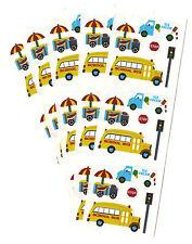 Sandylion Vintage School Bus Hot Dog Ice Cream Stickers Lot of 5 Strips RETIRED