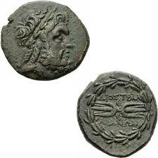 Tralles Lydien Bronze 133 v.Chr. Zeus Blitzbündel Kranz Tralleis SNG Kayhan 1010