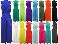 Damen ärmellos Frühling Kleid Damen einfarbig Lang Maxi Rock Griechisch