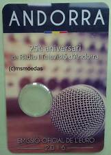 Andorra 2 Euro Münzkarte 2016 Rundfunk CoinCard Folder leer empty