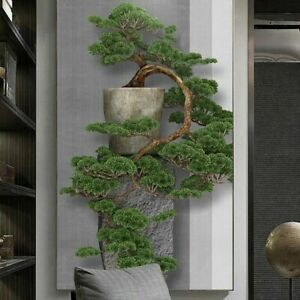 Large Mural Wallpaper Green Pine Tree Entrance Porch Wall Decor Art Painting