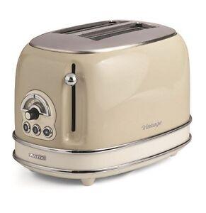 Tostapane Ariete Vintage 2 pinze acciaio tosta toast pane beige 155 810w - Rotex