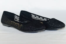 Womens Ballet Lace Mesh Flat Slip On Shoes Casual Dress Low Heel Ladies Crochet