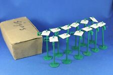 Plasticville - O-O27 - #SS-5 Street Name Signs w/tags (12) - Dealer Box - NOS