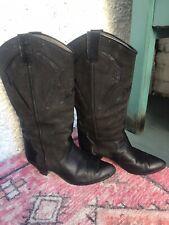black cowboy boots size 6