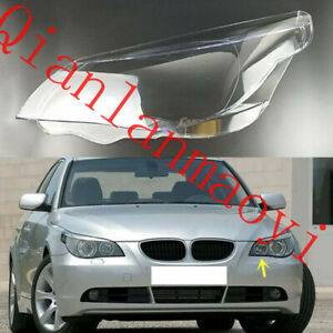 Left Side Clean Headlight Cover With Glue For BMW E60 E61 5-Series 2004-2010