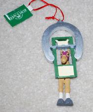 """Kurt Adler Horse Horseshoe Christmas Ornament 5"""" NWT Vintage Holiday"""