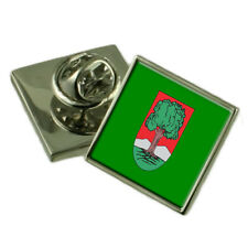 Walbrzych City Poland Flag Lapel Pin Engraved Box