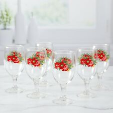 The Pioneer Woman Holiday Cheer 14oz Goblet Set, Set of 6 Wine Glasses