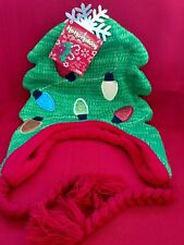 Ho-Ho Holiday  Unisex  Christmas 🌲 Knit Hat, with snowflake and bulbs(non-work)