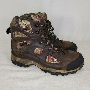 Cabelas Goretex Scentlok Mens 14 Brown Leather Camo Hunting Boots 81-3621