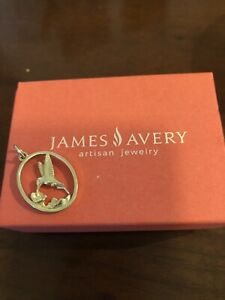 James Avery Hummingbird Pendant 14k Gold Oval