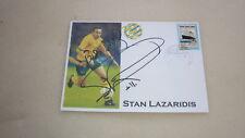 AUSTRALIAN SOCCEROOS GREAT STAN LAZARIDIS HAND SIGNED SOUVENIR COVER
