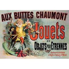 Jules Cheret Aux Buttes Chaumont Jouets Vintage-Style Poster Friends TV Show
