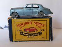 MATCHBOX LESNEY MOKO DIECAST MODEL 44a ROLLS ROYCE SILVER CLOUD CAR GMW B2 BOX