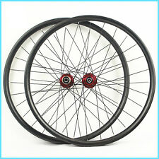 29er MTB Carbon wheelset 30mm wide hand build MTB XC Racing light weight wheels