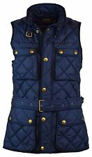 NEW Polo Ralph Lauren Womens M MEDIUM MED Down Filled Quilted Vest BLUE ATL NAVY