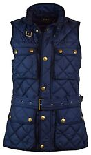 NEW Polo Ralph Lauren Womens S SMALL SM Down Filled Quilted Vest BLUE ATL NAVY