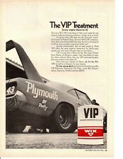 1970 PLYMOUTH ROAD RUNNER SUPERBIRD / RICHARD PETTY NASCAR  ~  ORIGINAL WIX AD