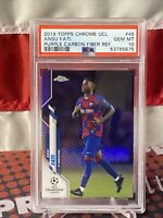 2019 Topps Chrome UEFA Purple Carbon Fiber Ansu Fati RC Barcelona PSA 10🔥 📈