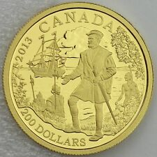 Canada 2013 $200 Jacques Cartier .9999 Pure Gold 1/2 oz Proof Great Explorers #2