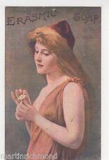 Erasmic Soap, Glamour Advertising Postcard, B554