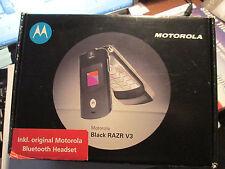 Motorola  RAZR V 3 OVP  schwarz / silber Klapp Handy  gebraucht Nr. 37 X