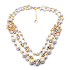 Vintage Bridal Pearl Necklace Chunky Necklace Statement Pearl Necklace Pearls