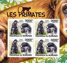 ANGOLA Black & White COLOBUS African Primates Stamp Sheet #5 of 5 (2011 Burundi)