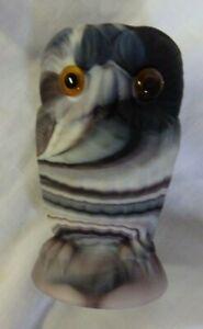 VINTAGE IMPERIAL GLASS PURPLE SLAG OWL SUGAR CIRCA 1850s