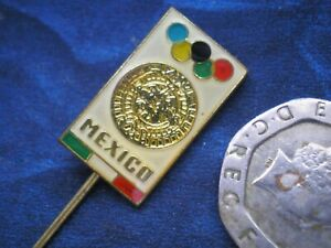 1968 Summer Olympics Mexico City / Rare Czechoslovak Badge