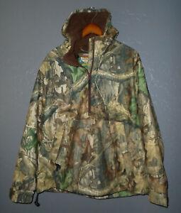 CABELAS Dry Plus Camouflage Hunting Jacket ADVANTAGE TIMBER Camo 1/2 Zip NEW Lg