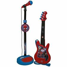 Reig SpiderMan Gitarre Standmikrofon Kindergitarren Spielzeug kindgerecht B-WARE