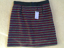 "COAST - BLACK MULTI WOOL MIX 'DANA' SKIRT - SIZE 14 / 16  34""W BNWT - £75"