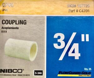 3/4 inch Cpvc Coupling 10 count