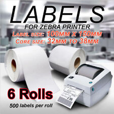 6 x 500PCS Thermal Direct Labels Roll 100X150mm For Fastway Startrack Zebra
