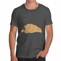 Twisted Envy Men's Sleeping Silly Bear Funny T-Shirt
