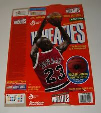 1995 GENERAL MILLS WHEATIES CEREAL BOX FLAT MICHAEL JORDAN BALL OFFER PROMOTION