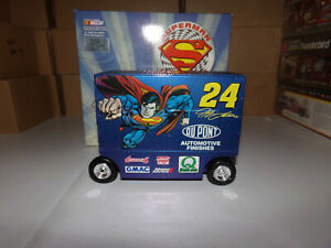 1/16 JEFF GORDON #24 DUPONT / SUPERMAN  PIT WAGON BANK  1999 ACTION NASCAR
